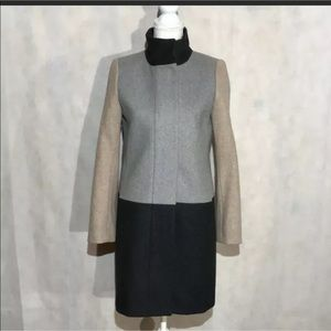 J. Crew Wool Blend Fully Lined Coat Size 4